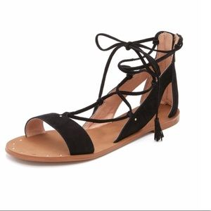 Madewell Gladiator Sandal in Black Suede